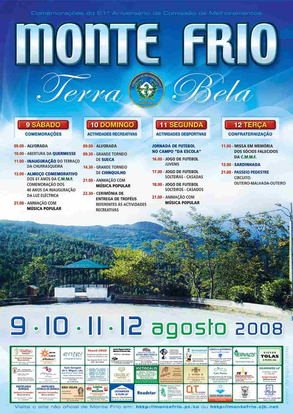 Cartaz das comemorações de 2008