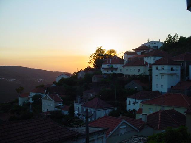 Pôr do Sol a partir do Monte Frio na Terça-feira, 8 de Agosto de 2006