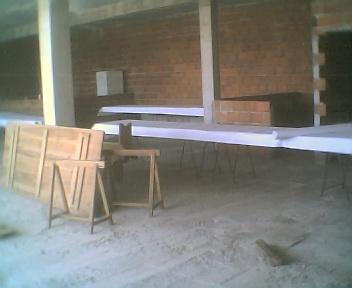 Preparativos para o almoço de Sábado no Salão Social na Sexta-feira, 10 de Agosto de 2007