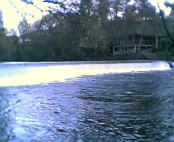 Caneiro de Côja no rio Alva na Sexta-feira, 9 de Dezembro de 2005
