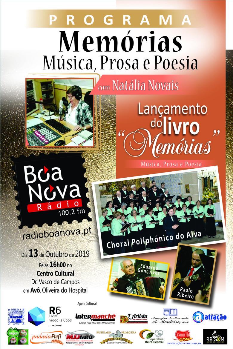 Apresentação do livro <i>«Memórias - Música, Prosa e Poesia»</i>, em Avô, Concelho de Oliveira do Hospital, no Domingo, 13 de Outubro de 2019