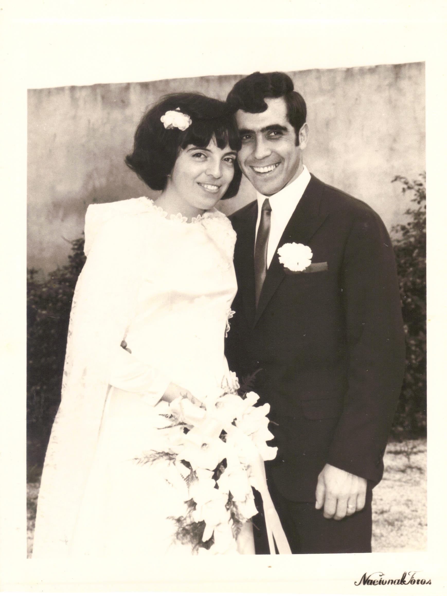 Casamento de Tiló Henriques e José Henriques, no Domingo, 12 de Outubro de 1969