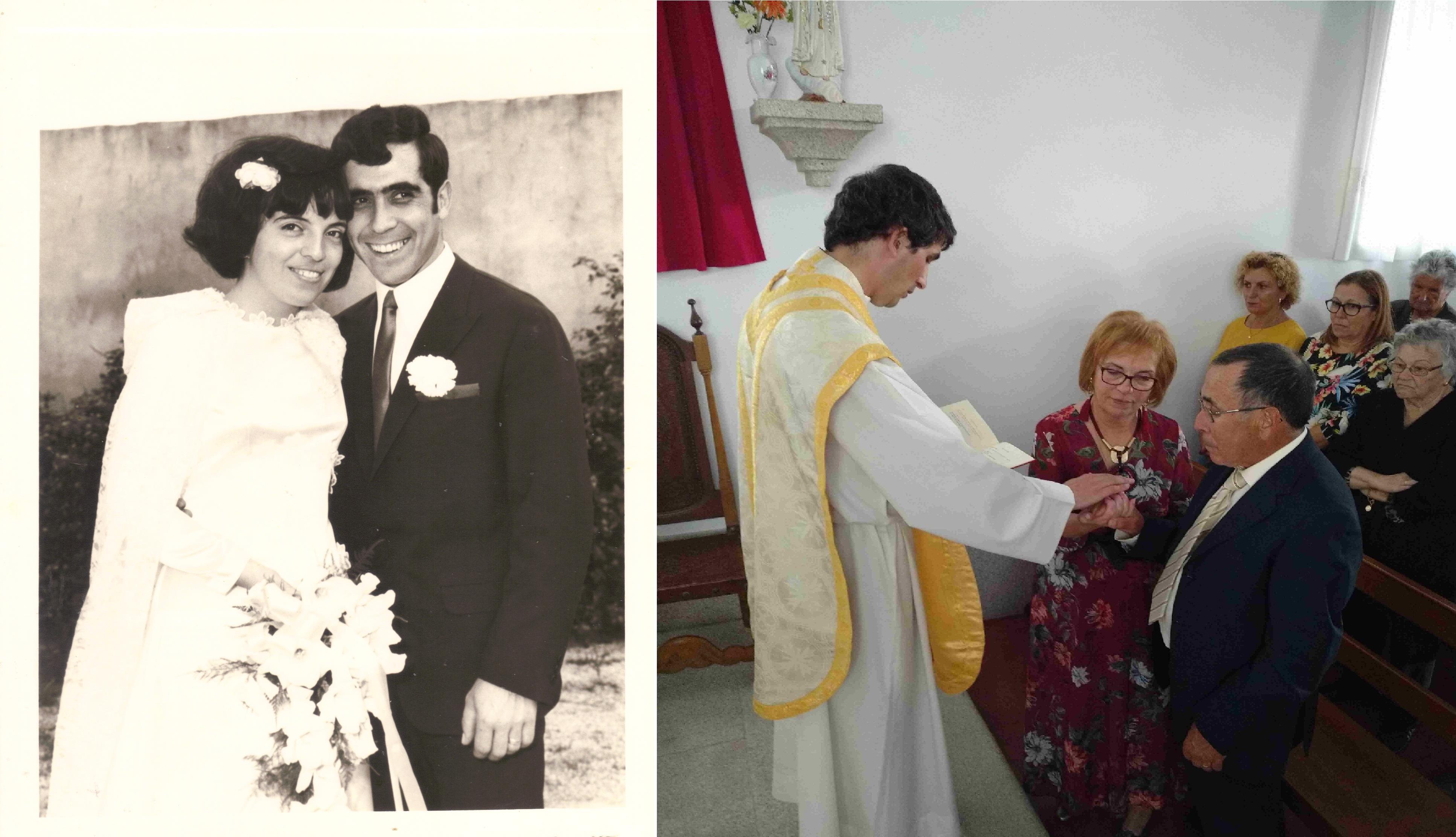 Casamento de Tiló Henriques e José Henriques, no Domingo, 12 de Outubro de 1969 e 50.º aniversário do casamento de Tiló Henriques e José Henriques, no Sábado, 12 de Outubro de 2019