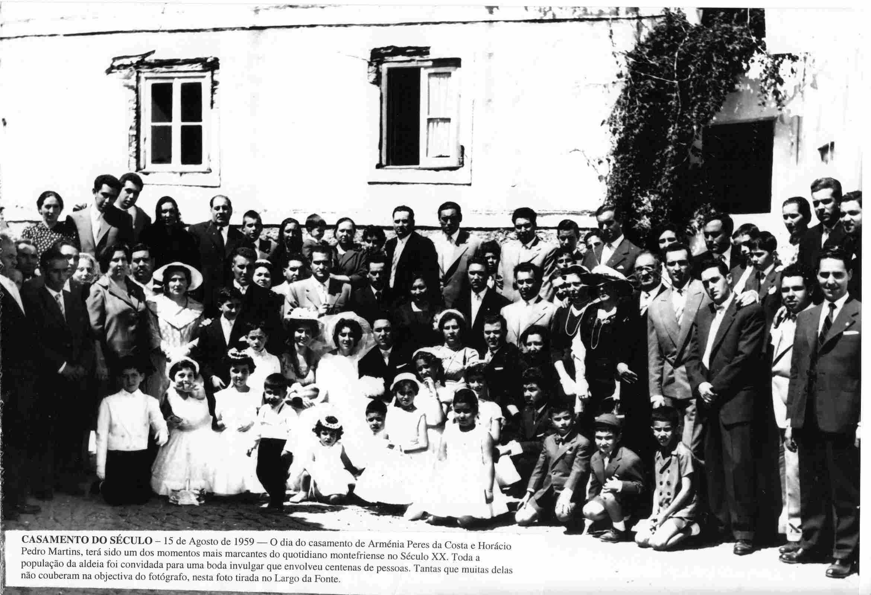 Casamento do século no Sábado, 15 de Agosto de 1959