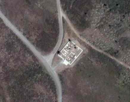 Vista aérea do cemitério do Monte Frio em 2005/2006