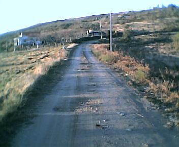 Estrada na Chã do Valado no Sábado, 1 de Janeiro de 2005