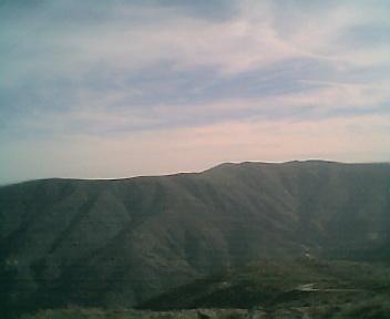 Paisagem a partir do pico do Monte do Colcurinho vista de norte para sul no Domingo, 12 de Março de 2006