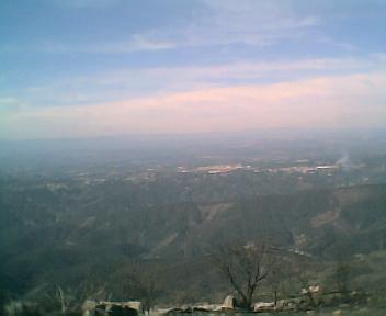 Paisagem a partir do pico do Monte do Colcurinho vista de sul para norte no Domingo, 12 de Março de 2006