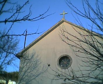 Cruz da entrada de honra da Capela no Domingo, 11 de Dezembro de 2005