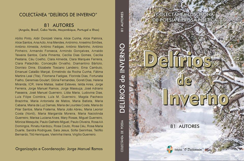Livro 'Delírios de Inverno - Colectânea lusófona de Poesia e Prosa Poética' de 81 autores
