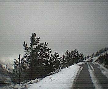 Estrada Picota Deguimbra a partir de ao pé do cruzamento para os Parrozelos vista de este para oeste no Domingo, 30 de Novembro de 2008