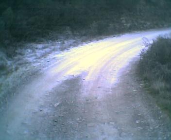 Geada na curva da estrada da Fonte do Vale vista de este para oeste na tarde de Quinta-feira, 15 de Dezembro de 2005