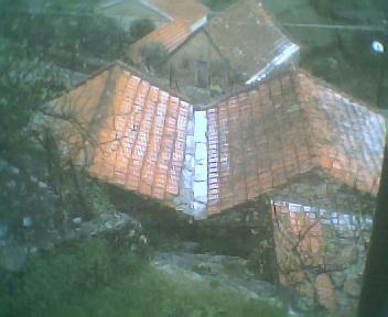 Granizo no outeiro no Sábado, 22 de Março de 2008
