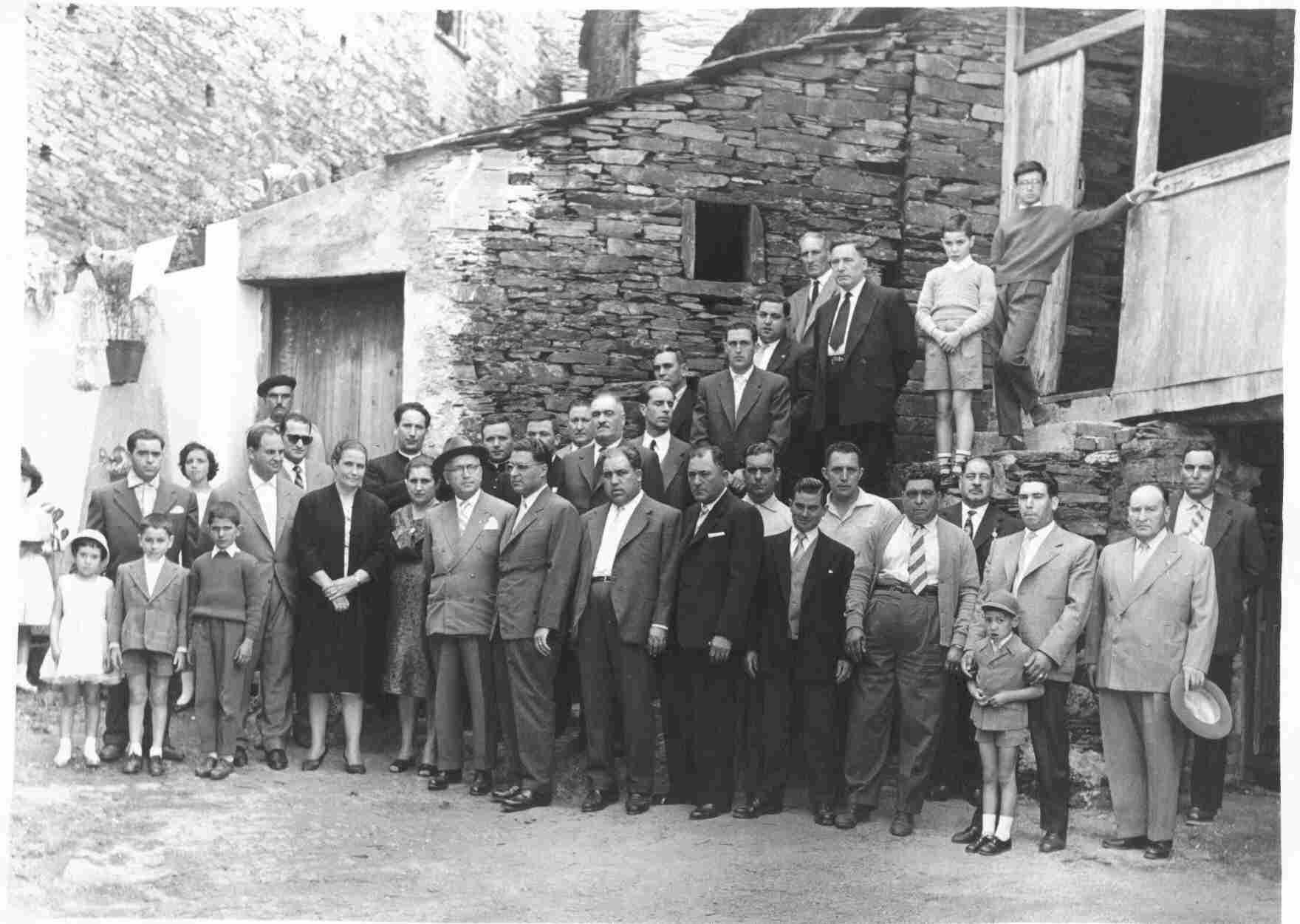 Inauguração dos chafarizes, em 12 de Agosto de 1960