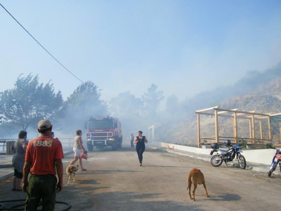 Incêndio no Monte Frio na Quarta-feira, 17 de Julho de 2013