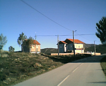 Casas na Lomba vistas de noroeste para sudeste no Sábado, 10 de Dezembro de 2005