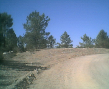 Malhada vista de sul para norte na Quarta-feira, 10 de Outubro de 2007