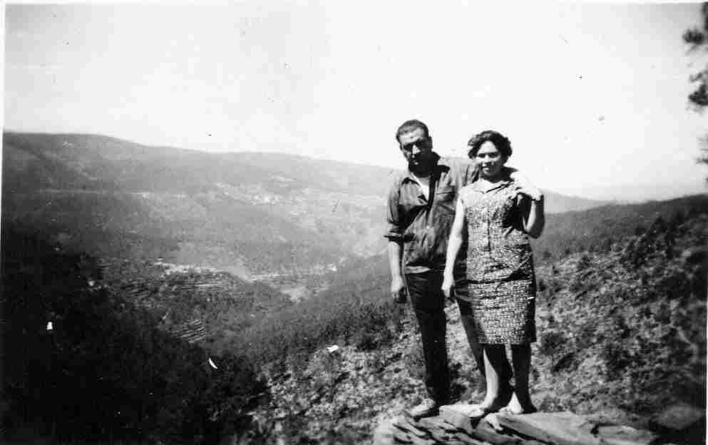 Antiga paisagem geral do vale da Benfeita a partir do Monte Frio (geogr.) no séc. XX