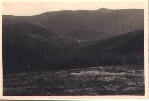 Antiga paisagem geral do vale da Benfeita a partir da Escola do Monte Frio no séc. XX