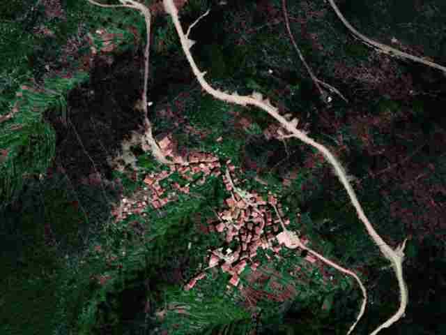 Vista aérea do Monte Frio em 1995