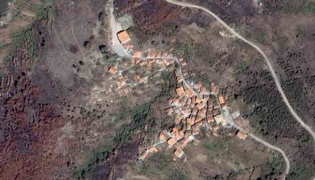 Vista aérea do Monte Frio em 2005/2006