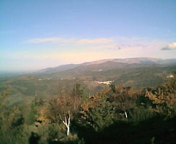 Monte Frio a partir do cabeço do Monte Redondo na Deguimbra na Segunda-feira, 12 de Dezembro de 2005