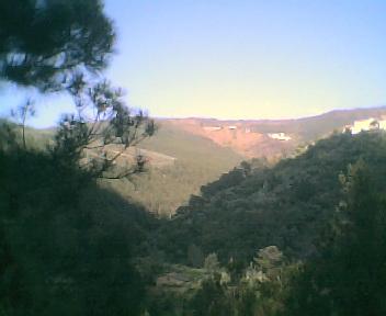 Monte Frio a partir da estrada da Benfeita à Fraga da Pena na Quarta-feira, 24 de Maio de 2006