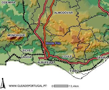 Localização geográfica de outros Monte Frio no Mundo