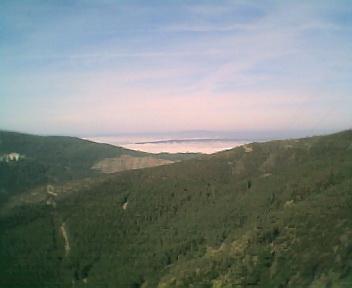 Nevoeiro a partir do Outeiro no Monte Frio no Domingo, 12 de Março de 2006
