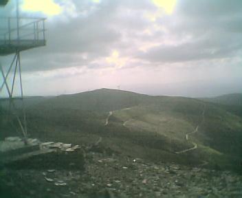 Paisagem a partir do pico de São Pedro do Açor vista de este para oeste na Segunda-feira, 22 de Maio de 2006