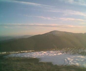 Paisagem a partir do pico de São Pedro do Açor vista de norte para sul na Segunda-feira, 11 de Dezembro de 2006