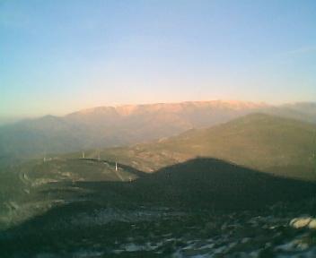 Paisagem a partir do pico de São Pedro do Açor vista de oeste para este na Segunda-feira, 11 de Dezembro de 2006