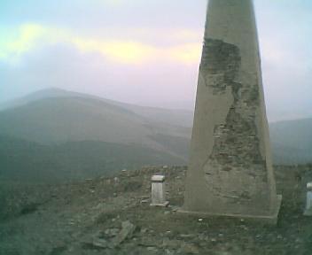 Paisagem a partir do pico de São Pedro do Açor vista de oeste para este na Quinta-feira, 16 de Março de 2006