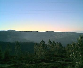 Paisagem a partir do pico do Monte Frio (geogr.) vista de oeste para este no Sábado, 10 de Dezembro de 2005