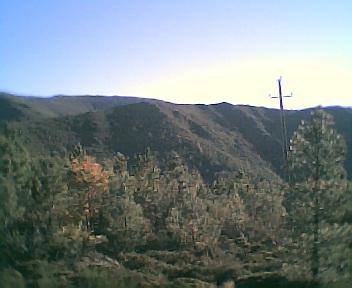 Paisagem a partir do pico do Monte Frio (geogr.) vista de norte para sul no Sábado, 10 de Dezembro de 2005