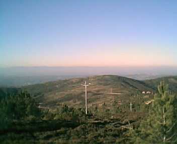 Paisagem a partir do pico do Monte Frio (geogr.) vista de sul para norte no Sábado, 10 de Dezembro de 2005