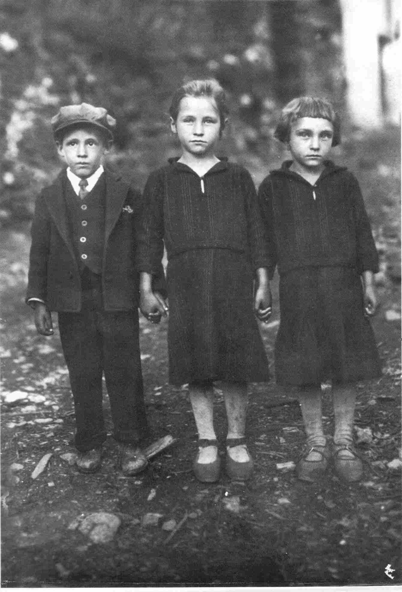 Os Três Pastorinhos do Monte Frio em 1934