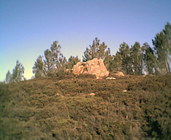 Pico do Monte Frio (geogr.) visto de oeste para este no Sábado, 10 de Dezembro de 2005
