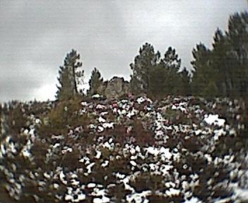 Pico do monte do Monte Frio visto de oeste para este no Domingo, 30 de Novembro de 2008