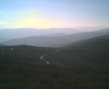 Paisagem a partir do pico da Picota vista de este para oeste na Terça-feira, 13 de Dezembro de 2005