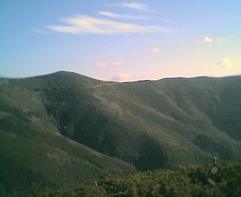Paisagem a partir do pico da Picota vista de norte para sul na Terça-feira, 13 de Dezembro de 2005