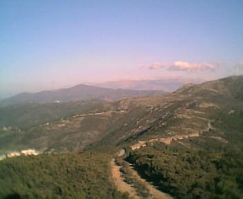 Paisagem a partir do pico da Picota vista de oeste para este na Terça-feira, 13 de Dezembro de 2005