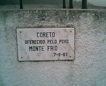 Placa do Coreto no Sábado, 1 de Janeiro de 2005